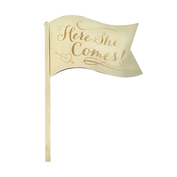 Here She Comes Sign Board -  [product_type] - ShaadiMagic