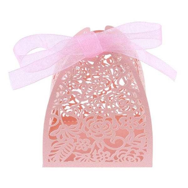 10 Pc. Laser Cut Lace Flower Candy Box -  [product_type] - ShaadiMagic