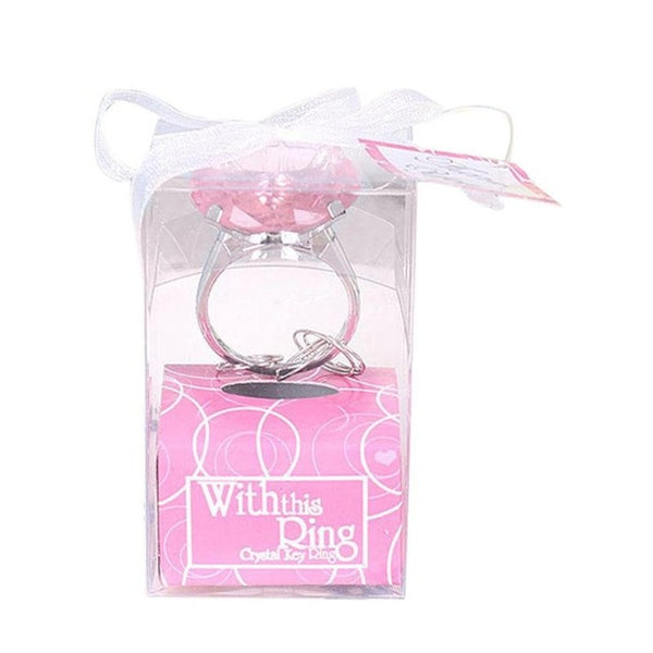 Engagement Ring Keychain Bridal Shower Favors