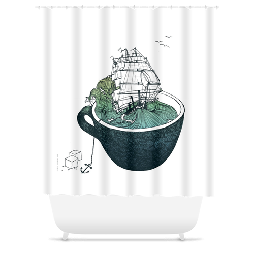 Sea Cup Shower Curtain
