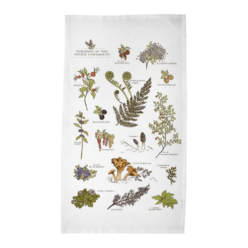 Foraging In The Northwest Tea Towel