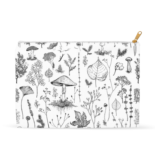 Woodland Walk  Black & White Accessory Pouch