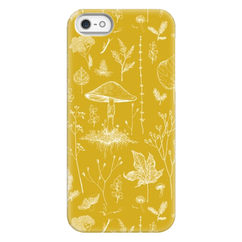 Woodland Walk Mustard Phone Case