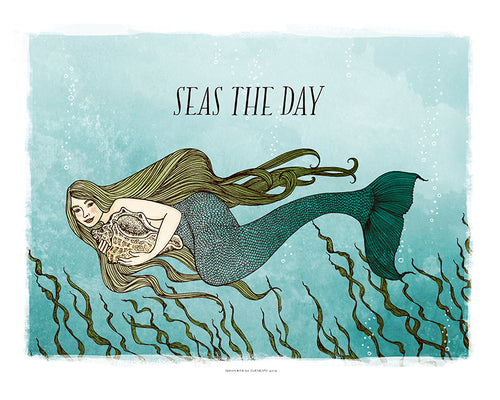 Seas The Day Art Print