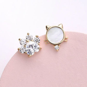 Cute Cat Asymmetry Earrings