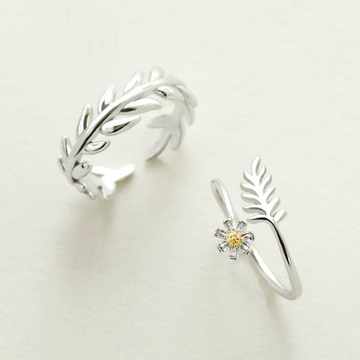 Gesang Flower Couple's Rings - Misty and Molly