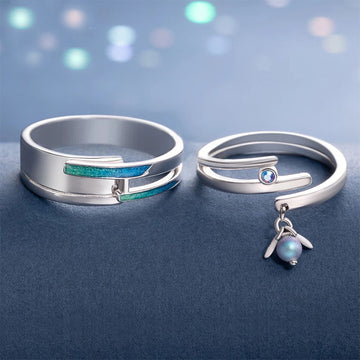 A Midsummer Night's Dream Couple's Rings - Misty and Molly