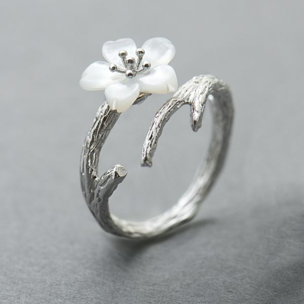 White Cherry Blossom Ring - Misty and Molly