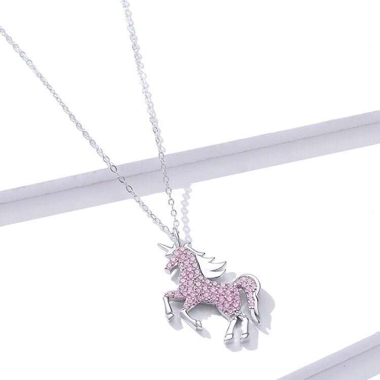 Pink Unicorn Necklace - Misty and Molly