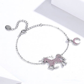 Pink Unicorn Bracelet - Misty and Molly