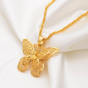 Garden Butterfly Necklace - Misty and Molly