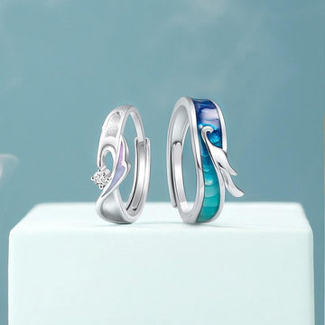 Dragon and Phoenix Couple's Rings - Misty and Molly