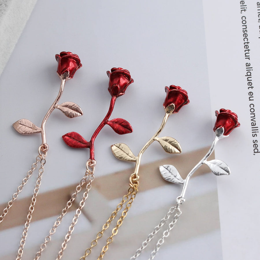 Red Rose Necklace - Misty and Molly