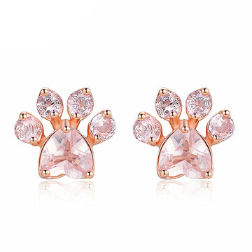 Rose Gold Plated Cat Claw Earrings - Misty and Molly