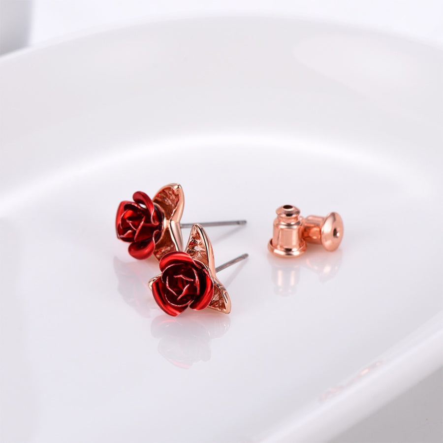Red Rose Earrings - Misty and Molly