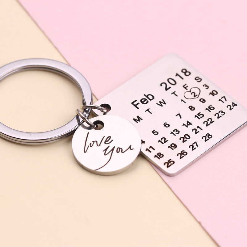 Personalized Calendar Key Chain - Misty and Molly