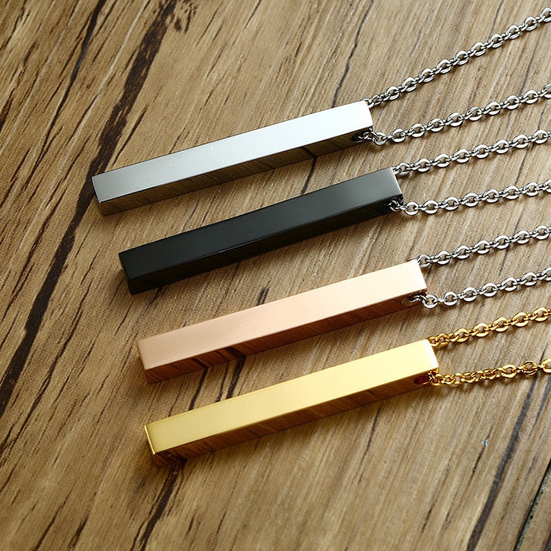 Personalized Bar Necklace - Misty and Molly
