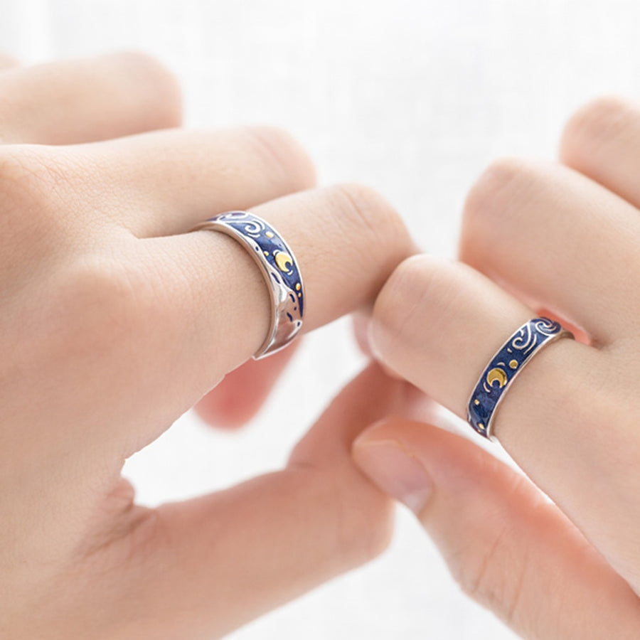 Starry Night Couple's Rings - Misty and Molly