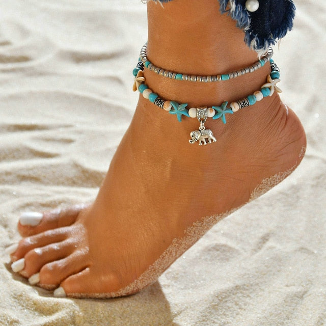Elephant Anklet - Misty and Molly