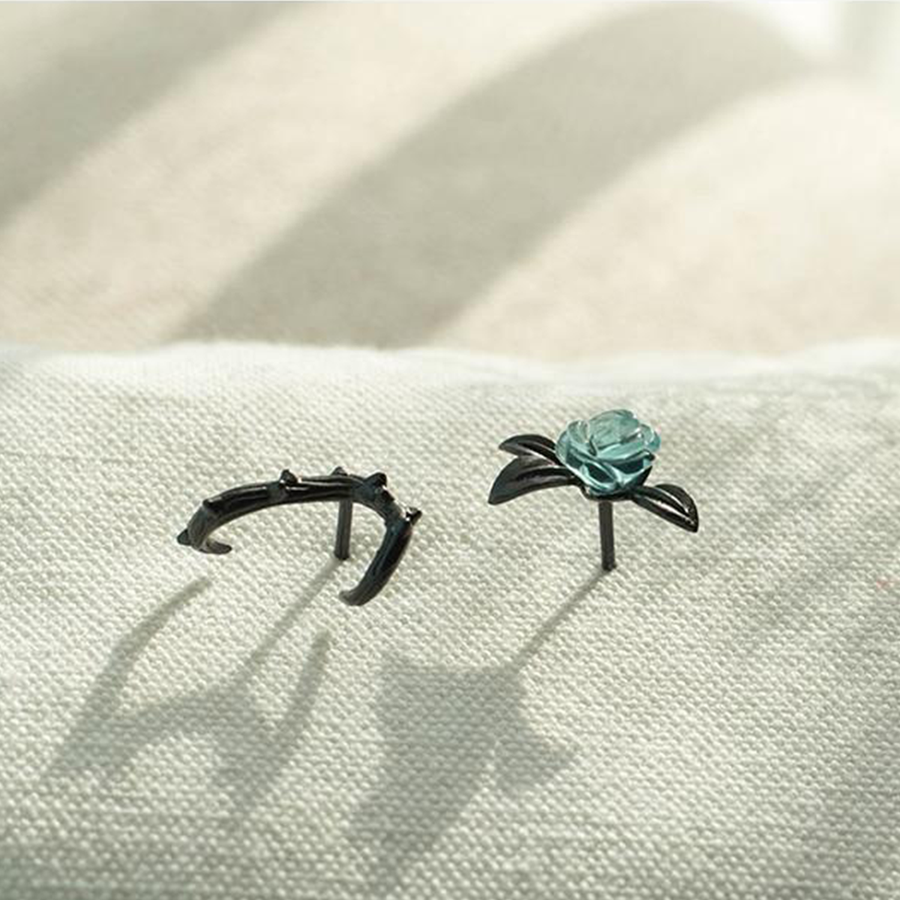 Thorns and Roses Earrings - Misty and Molly