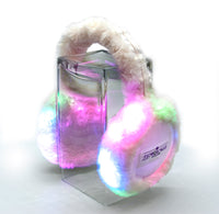RAINBOW FUZZY EAR MUFFS