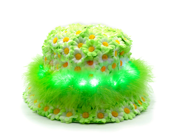 NEON GREEN FUZZY BUCKET HAT