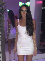 LIQUID WHITE MINI DRESS