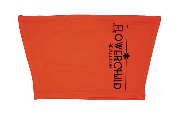 "ORANGE ""FCR"" CROP TOP"