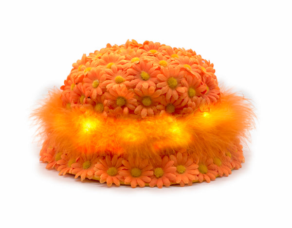 ORANGE FUZZY BUCKET HAT