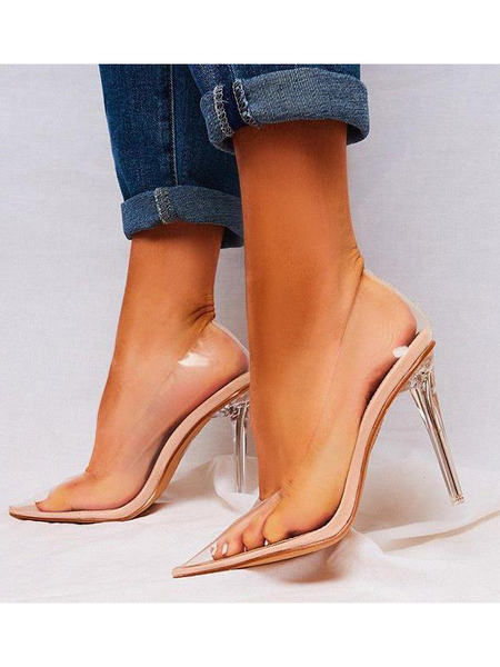 PVC Transparent Pointed Stiletto Heels