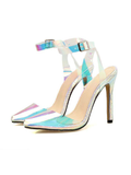 Fashion Hologram Colorful Pointed Heel Sandal