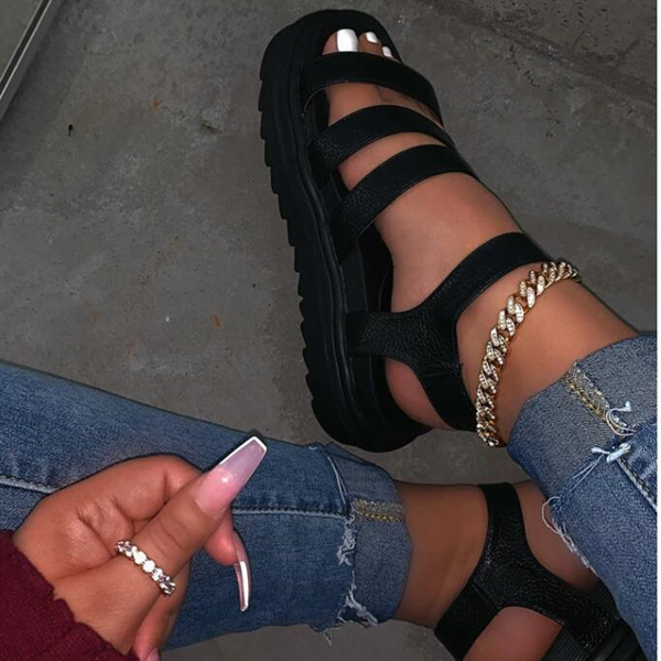 Summer Outwear Leisure Platform Sandals