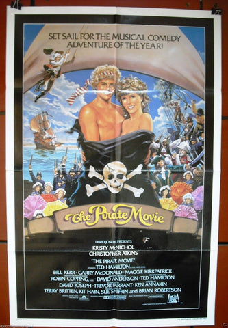 "The Pirate Movie {Kristy McNichol}  27""x41"" Orig. Movie Poster 80s"