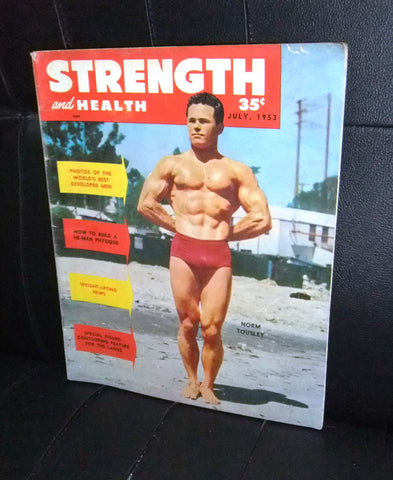 Strength and Health Norm Tousley Bodybuilding Magazine 1953