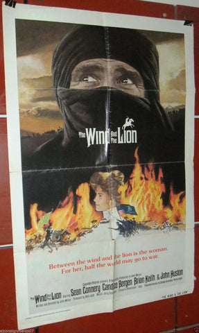 THE WIND AND THE LION (Sean Connery) Original 41x27 Movie U.S. Poster 70s