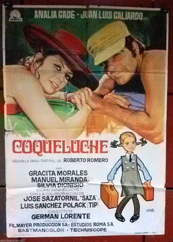 COQUELUCHE (ANALIA GADE) Original Spanish Movie Poster 70s
