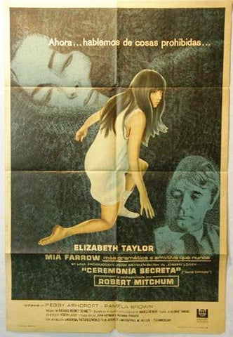 Secret Ceremony Argentinean Movie Poster 60s