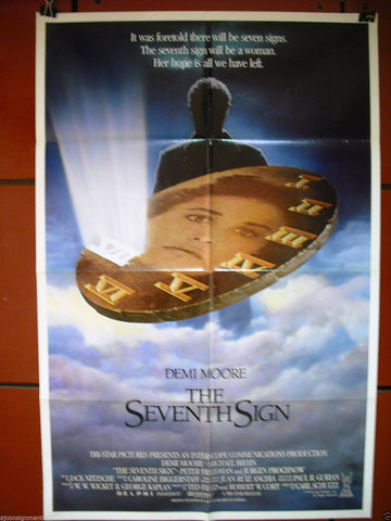 "The Seventh Sign {Demi Moore} 27""x41"" Orig. Movie Poster 80s"