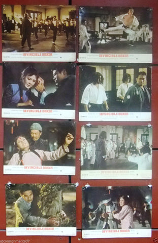 "{Set of 8} The Invincible Boxer (Leih Lo) Hong Kong 11x14"" Org. Lobby Cards 70s"