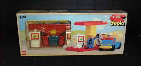 Vintage Lego 2639 Duplo Petrol Station Sealed New Original 1984