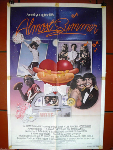 Almost Summer {John Friedrich} Original Movie Poster 70s