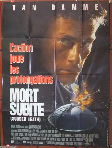 "Mort Subite, Sudden Death {JEAN CLAUDE VAN DAMME} 47x63"" French Movie Poster 90s"