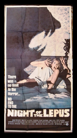 "NIGHT OF THE LEPUS {Stuart Whitman} 3sh Org 41""x81"" Movie Poster 1970s"