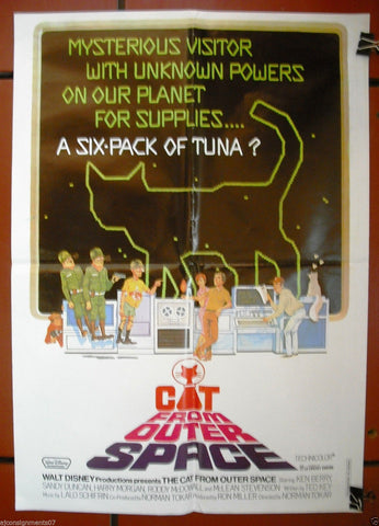 CAT FROM OUTER SPACE {KEN BERRY} Original Lebanese Movie Poster 70s