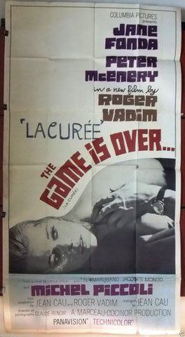 "Game is Over (Jane Fonda) 3sht Org 41x81"" Movie Poster 70s"