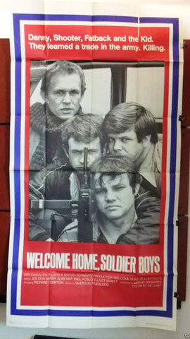 "WELCOME HOME, SOLDIER BOYS {Joe Don Baker} 3sht Org 41x81"" Movie Poster 70s"