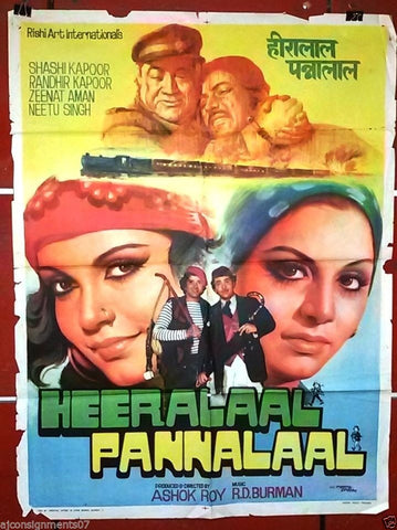 Heeralaal Pannalaal (Shashi Kapoor) Bollywood Hindi Original Movie Poster 70s