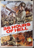 "36 Hours of Hell {Roberto Bianchi} 39x27"" Lebanese Original Movie Poster 60s"