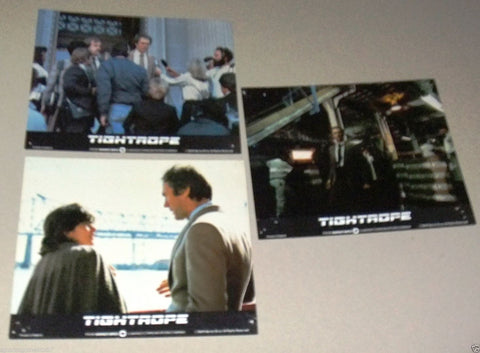 "{Set of 7} TIGHTROPE {Clint Eastwood} 10X8"" Movie British Lobby Cards 80s"