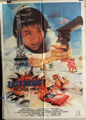 "Easy Money, Tong tian da dao {Michelle Khan} Lebanese 39x27"" Movie Poster 80s"